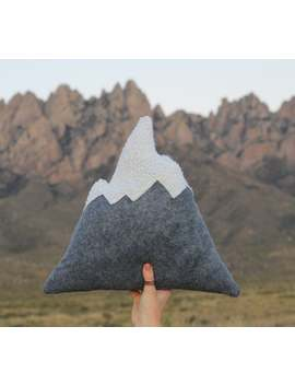 original-organ-mountain-pillow,-snowy-mountain-pillows,-home-decor,-nursery,-adventure,-soft-mountains,-mountains,-kids-toy,-play by etsy