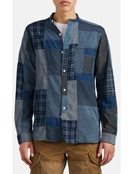 patchwork-cotton-shirt by rrl