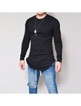 2017-new-men-casual-tops-cotton-long-sleeve-o-neck-silm-fit-t-shirt by wish