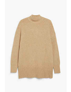 Long Chunky Knit Sweater by Monki