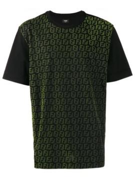 logo-print-panel-t-shirt by fendi