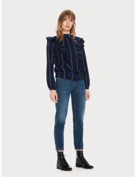 the-keeper---deep-blue-<br>-mid-rise-slim-fit by scotch&soda