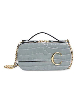 chloé-c-croc-embossed-leather-compact-bag by chloé