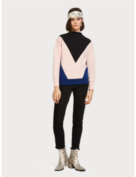 colourblock-sweater by scotch&soda