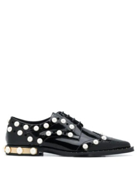 embellished-perforated-lace-up-shoes by dolce-&-gabbana