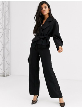 &-other-stories-tie-waist-double-breasted-jacket-in-black by &-other-stories