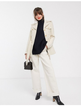 &-other-stories-structured-belted-jacket-in-cream by &-other-stories