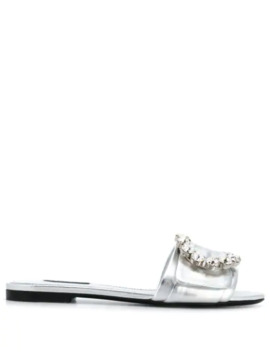 bianca-buckled-slides by dolce-&-gabbana