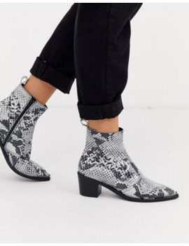 depp-snake-effect-western-boots-with-silver-toe-caps by asos