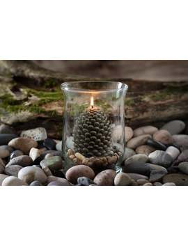 pinecone-beeswax-candle by etsy