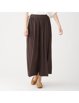 Cotton Rayon Wide Trousers by Muji