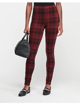 high-waisted-ombre-plaid-leggings by express