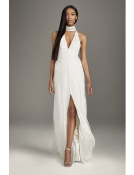 high-slit-sequin-gown-with-plunging-choker-neck by white-by-vera-wang
