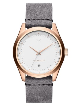 time-crusher-leather-strap-watch,-39mm by mvmt