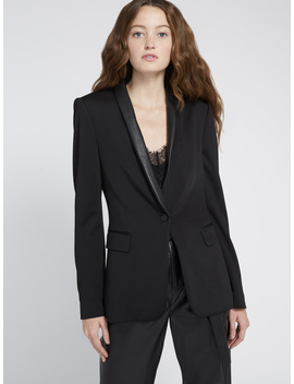 Macey Leather Trim Blazer by Alice And Olivia