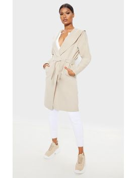 stone-waterfall-hooded-coat by prettylittlething