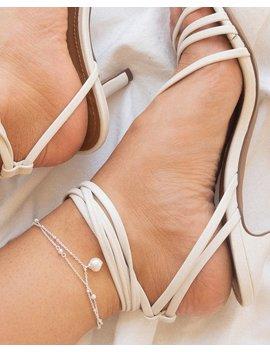 Baroque Pearl Anklet / Bracelet   Silver by Luv Aj