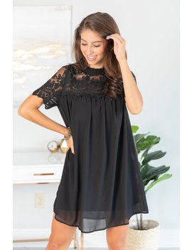 Always Be Seen Black Lace Dress by The Mint Julep Boutique
