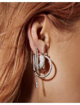 Pave Mini Donut Hoops  Silver (Ships Late November) by Luv Aj