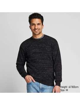 cotton-slub-crew-neck-long-sleeve-sweater by uniqlo