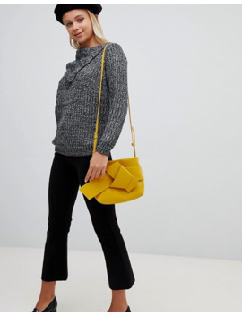 qed-london-ribbed-sweater-with-open-neck by asos