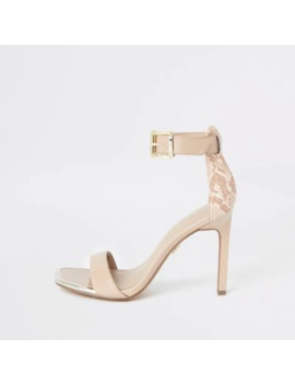 Light Pink Barely There Sandals by River Island