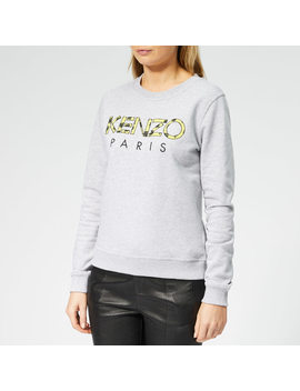 kenzo-womens-fitted-sweatshirt---pale-grey by kenzo