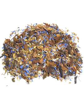 winter-wind-artisan-tea-blend---white-tea,-mint,-ginger,-and-a-sprinkle-of-blue-cornflower---each-ounce-yields-20-cups by etsy