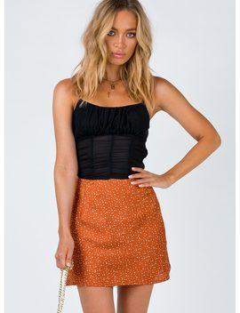 abbott-mini-skirt-orange by princess-polly
