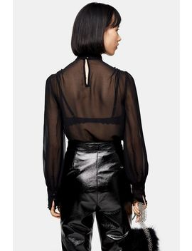 petite-idol-embroidered-cutwork-blouse by topshop