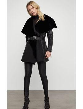 Draped Leather Jacket by Bcbgmaxazria