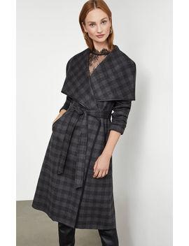 Plaid Wool Coat by Bcbgmaxazria