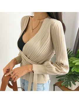dabagirl---long-sleeve-rib-knit-wrap-top by dabagirl