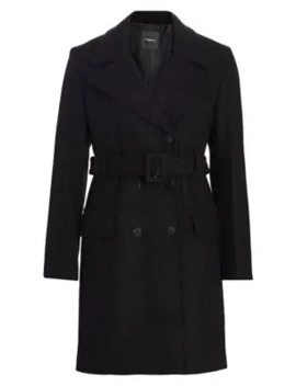 stretch-wool-melton-long-peacoat by theory