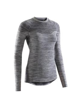 Triban Rc 500 Women's Cycling Long Sleeve Base Layer   Black by Triban