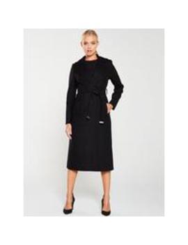 Gabella Premium Wrap Coat   Black by Ted Baker