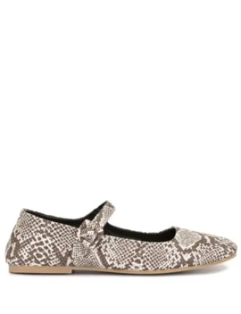 snake-effect-printed-ballerina-shoes by alexa-chung