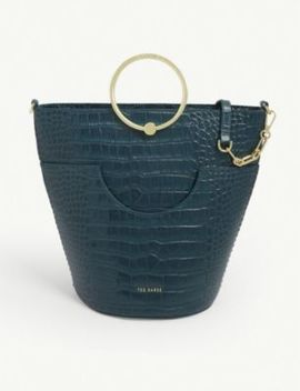 ashher-croc-effect-leather-bucket-bag by ted-baker