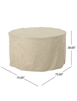 """Shield Outdoor 75"""" Round Waterproof Dining Set Cover By Christopher Knight Home by Christopher Knight Home"""