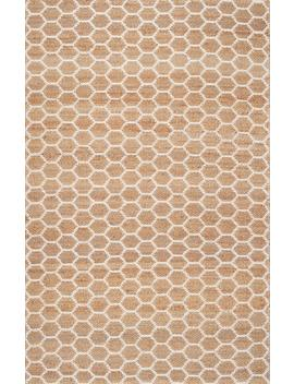 Monterey Hand Woven Jute Reversible Honeycomb Rug by Rugs Usa
