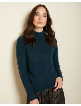 Puffy Sleeve Mock Neck Sweater by Rw & Co