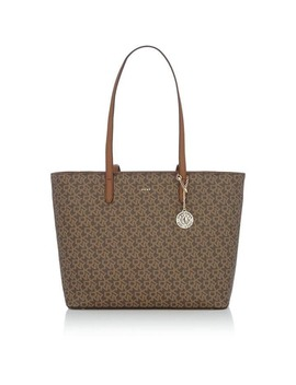 Coated Logo Large Shopper Tote by Dkny