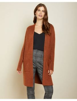 Relaxed Fit Open Front Boucle Cardigan by Rw & Co
