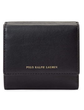 Core Smooth Leather Compact Wallet by Polo Ralph Lauren