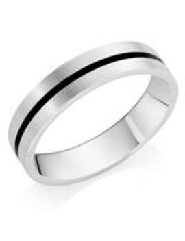 Palladium 950 And Ceramic Men's Wedding Ring by Beaverbrooks