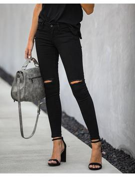 All Me Mid Rise Distressed Skinny by Vici