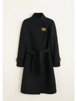 Button Wool Coat by Mango