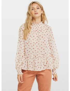 Ditsy Shirred Smock Blouse by Miss Selfridge