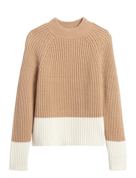 Petite Chunky Color Block Sweater by Banana Repbulic