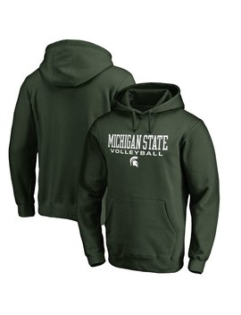 Michigan State Spartans Fanatics Branded True Sport Volleyball Pullover Hoodie   Green by Fanatics Branded